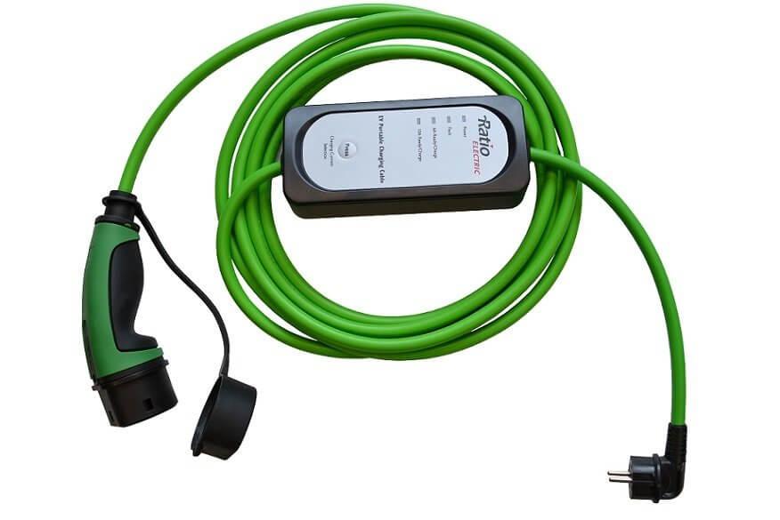 Elektrische auto opladen op de camping - type 2 230V laadkabel